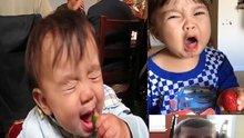 Ekşi yiyeceklerle yüzleri ekşiyen bebekler