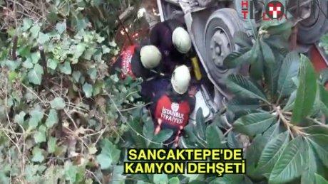 Sancaktepe'de kamyon terörü
