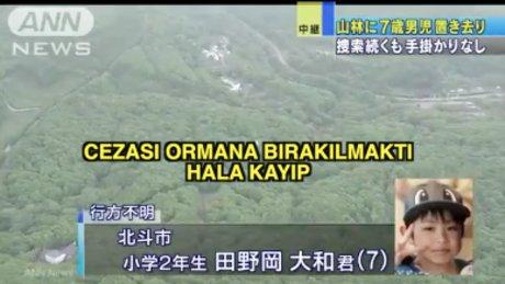 Japonya'da çocuğa ceza: Ormana bırakmak