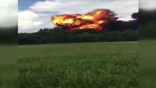F-18'in patlama anı kamerada