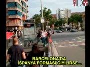 Barcelona'da 'İspanya forması' dayağı