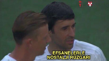 Real Madrid ve Ajax efsaneleri sahada