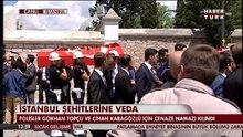 Vezneciler'de şehit olan polisler için Fatih'te tören