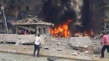 Midyat'ta  bomba yüklü araçla saldırı (olay yerinden ilk görüntüler)
