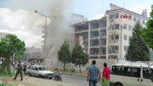 Mardin'in Midyat ilçesinde Emniyet Müdürlüğü önünde patlama