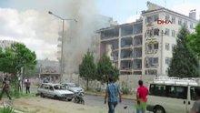 Mardin Midyat'ta emniyet müdürlüğüne bomba yüklü araçla saldırı