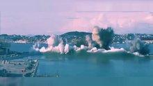 Liman yapımı için patlattılar!