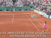 Sharapova'ya sponsorlardan destek