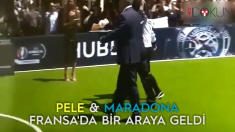 Pele ve Maradona Fransa'da buluştu