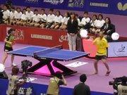 Engelli adamın masa tenisi performansı