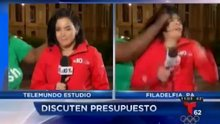 Kadın muhabire yayın sırasında saldırı