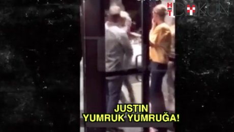 Justin Bieber yumruk yumruğa!