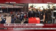 CHP lideri'ne mermi tepkisi