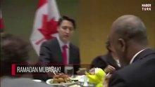 Kanada Başbakanı iftar yemeğine katıldı