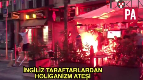 Holiganlar Marsilya'da restoran yaktı