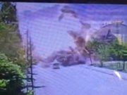 Tunceli Ovacık'taki patlama anı kamerada