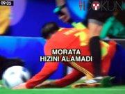 Morata hakemi düşürdü