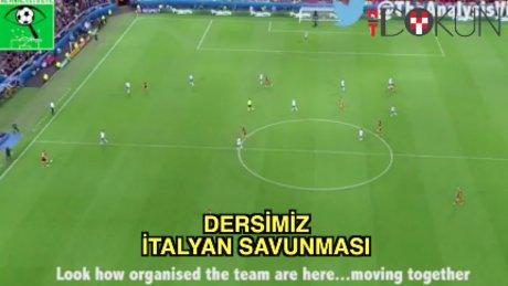İtalyanlardan savunma dersi