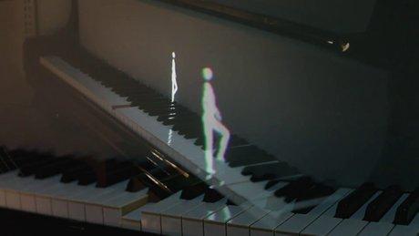 Animasyon karakterlerinin piyanoyla uyumu