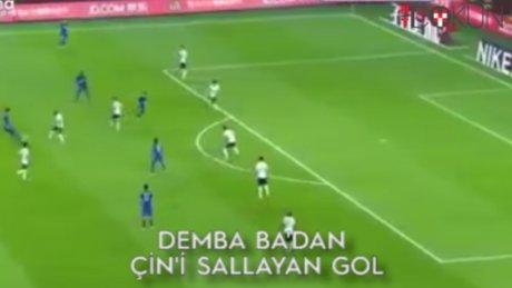 Demba ba'dan Çin'i sallayan gol