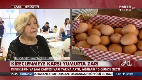 Kireçlenmeye karşı yumurta zarı