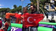Türk taraftarlar Nice Sokaklarını renklendirdi