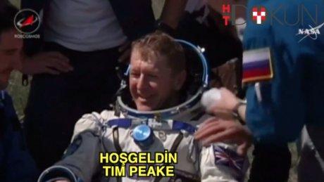 Tim Peake dünyaya döndü