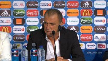 Türkiye İspanya maçı sonrası basın toplantısı