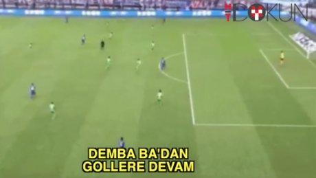 Demba Ba'dan hat trick