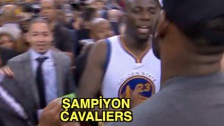 LeBron James'in ilk şampiyonluk sevinci