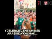 Yüzlerce İrlandalıdan genç kıza serenat