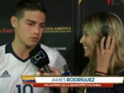 James Rodriguez ve muhabir