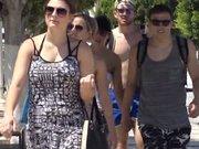 Yolcu gemisinden inen turisti hanutçular pişman etti