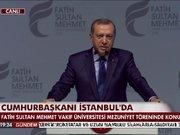 Cumhurbaşkanı Erdoğan mezuniyet töreninde konuştu