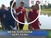 Ronaldo mikrofonu göle fırlattı