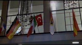 Almanya'da Türk gençleri bayrağa sahip çıktı