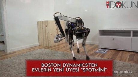 Zürafa boyunlu ev hizmetçisi robot