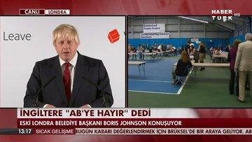 Boris Johnson'dan Brexit'le ilgili basın toplantısı
