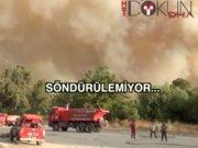 Kumluca'da yangın kontrol altına alınamadı