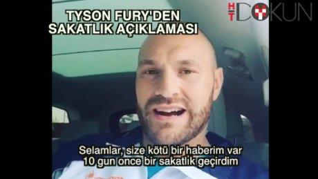 Tyson Fury sakatlandığını duyurdu