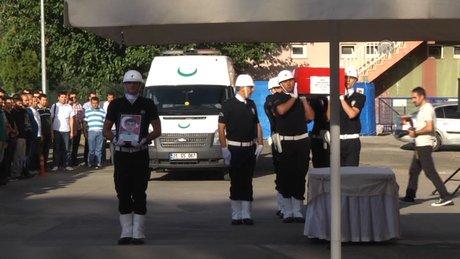 Şehit polis Mustafa Yıldırım için tören