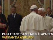 Papalar buluşup birbirini kutladı
