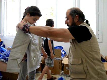 Suriyeli yetimlere ramazan yardımı