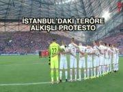 Euro 2016'da teröre alkışlı protesto