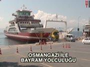 Osmangazi Köprüsü'nde bayram yolculuğu