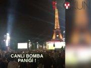 Paris'te canlı bomba paniği