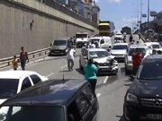Yola dökülen yağ kazası