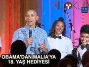 Obama'dan Malia'ya serenat