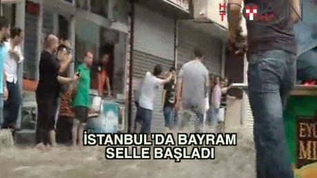 İstanbul'u bayramda sel aldı