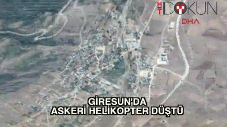 Giresun Alucra'da askeri helikopter düştü